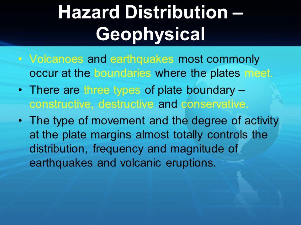 Hazard Distribution – Geophysical