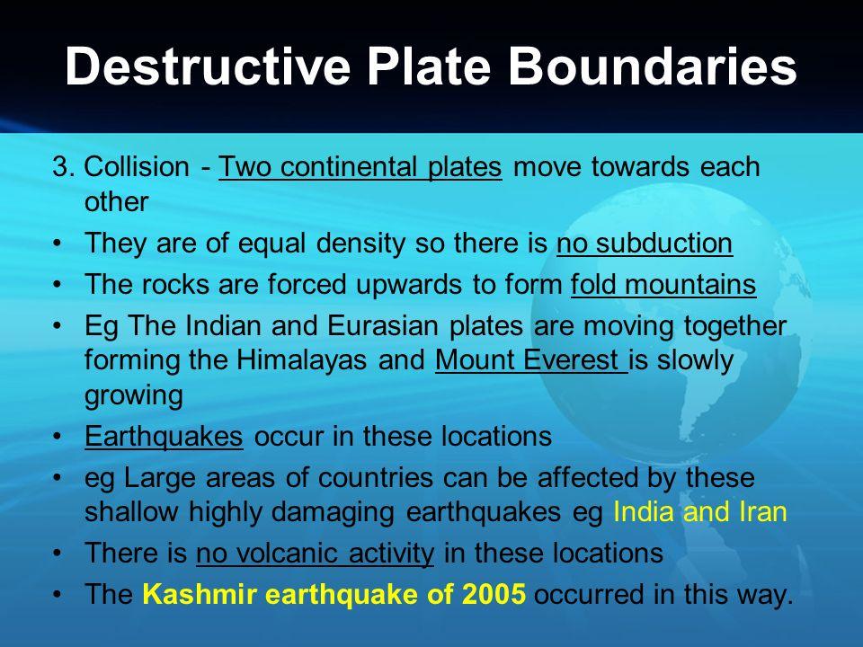 Destructive Plate Boundaries