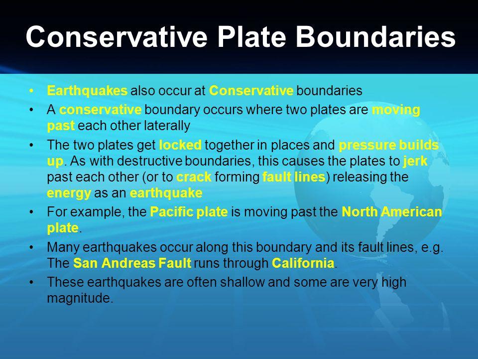 Conservative Plate Boundaries