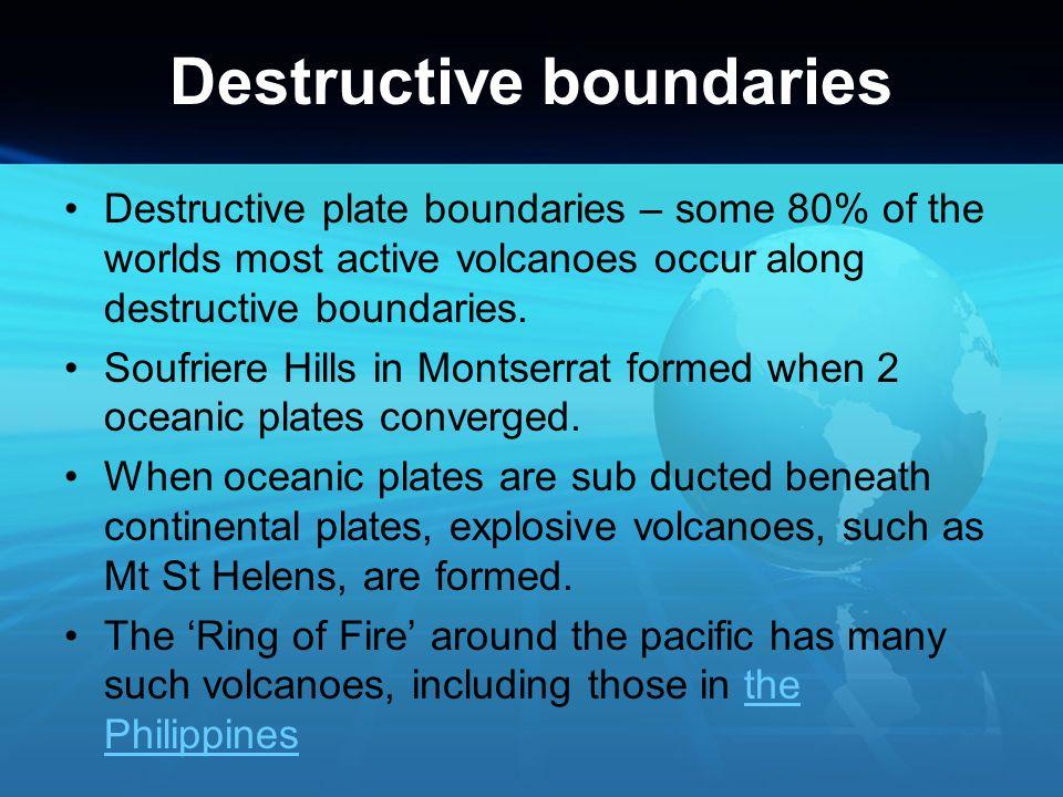 Destructive boundaries