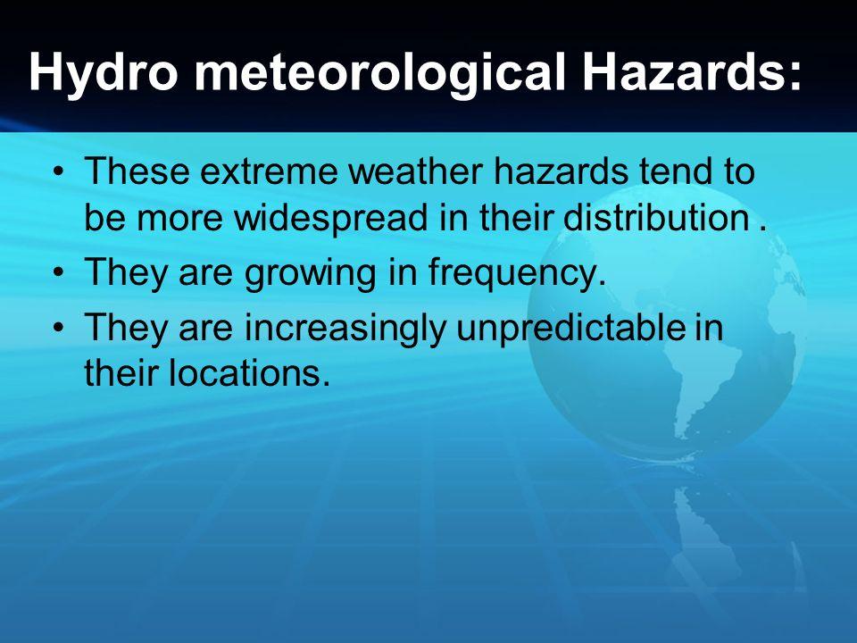 Hydro meteorological Hazards:
