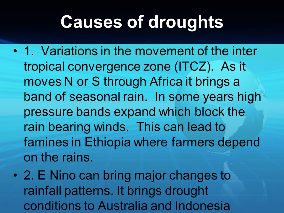Causes of droughts
