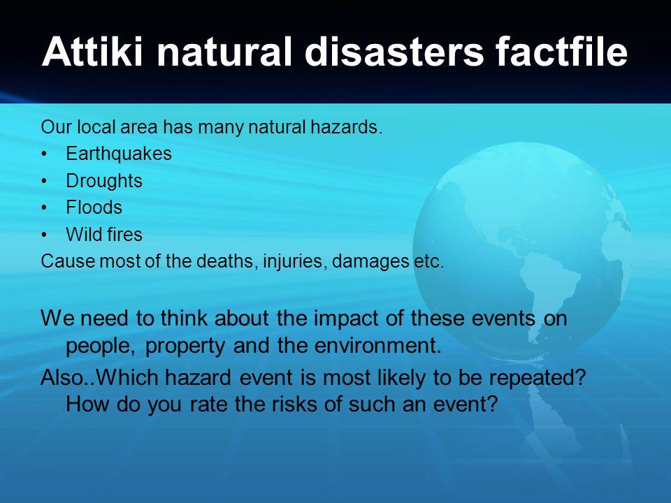Attiki natural disasters factfile