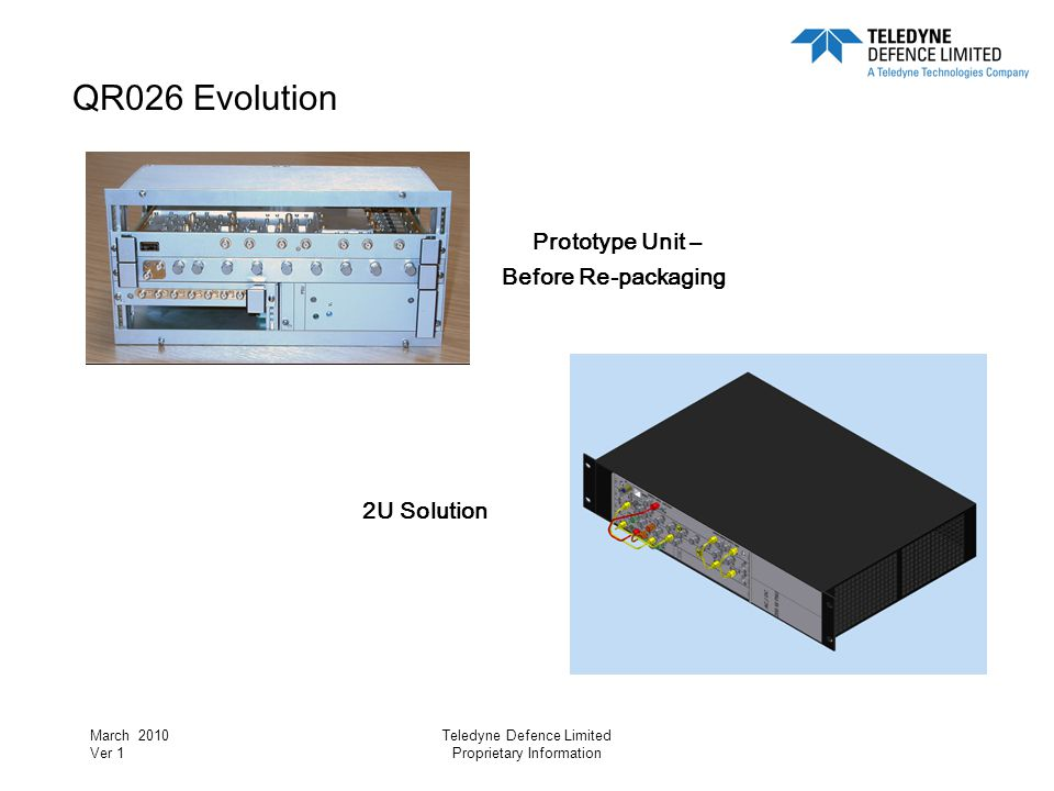 QR026 Evolution Prototype Unit – 2U Solution Before Re-packaging