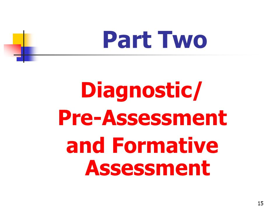and Formative Assessment