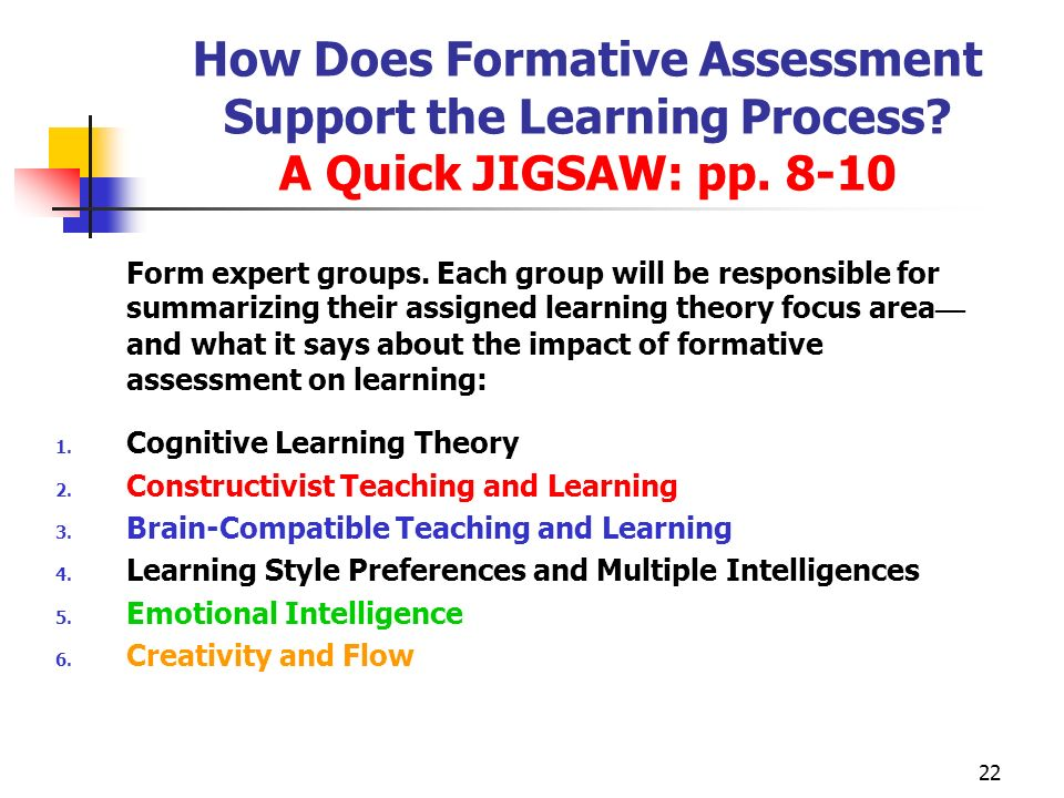 How Does Formative Assessment Support the Learning Process