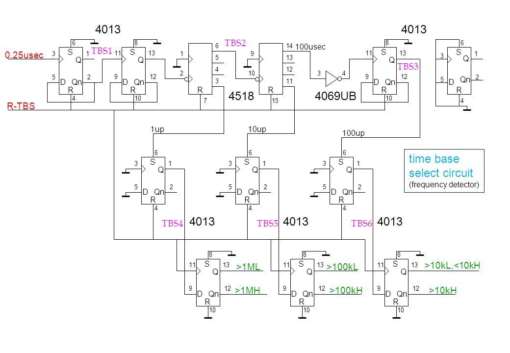 4013 4013 4518 4069UB time base select circuit 4013 4013 4013 TBS2