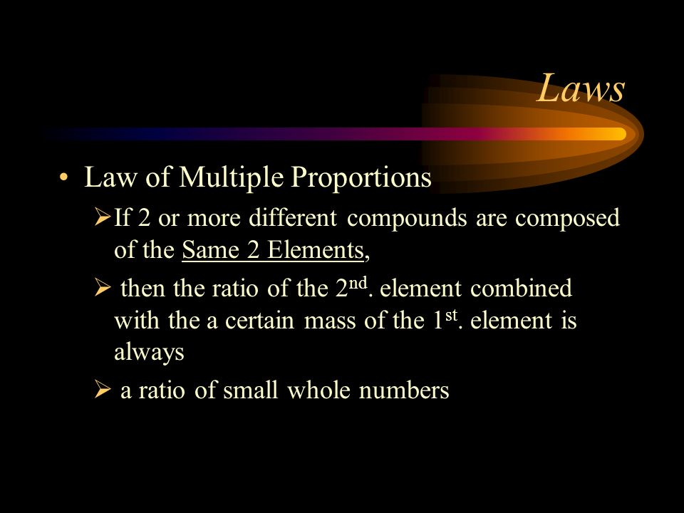 Laws Law of Multiple Proportions