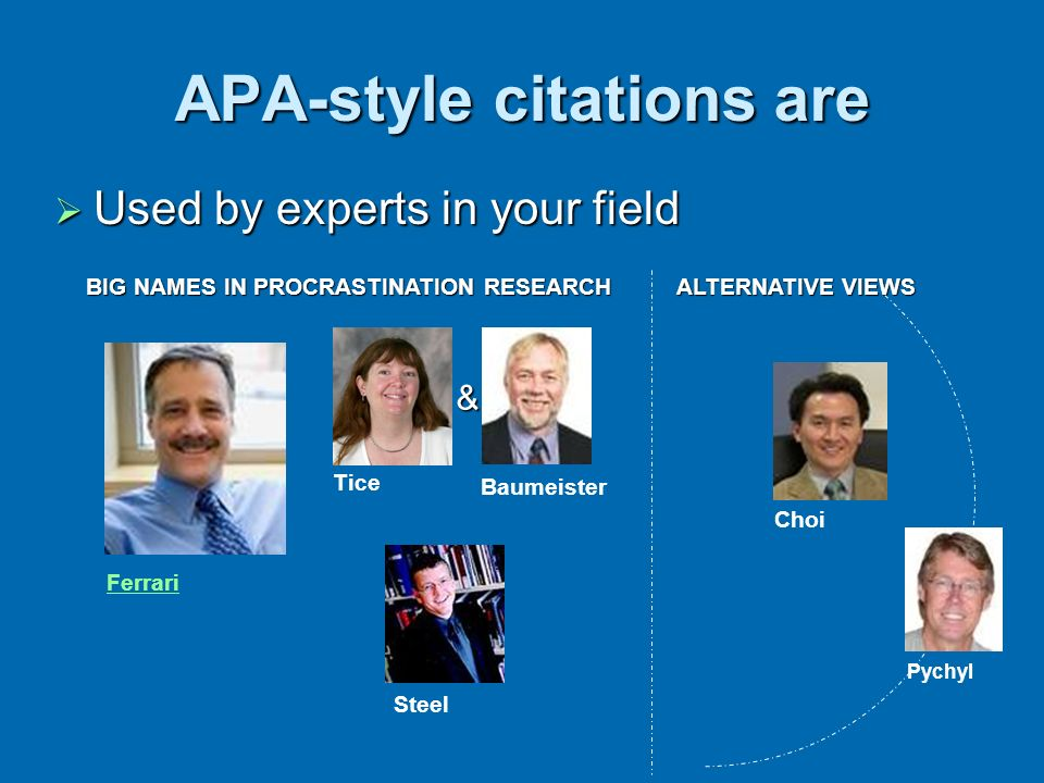 APA-style citations are