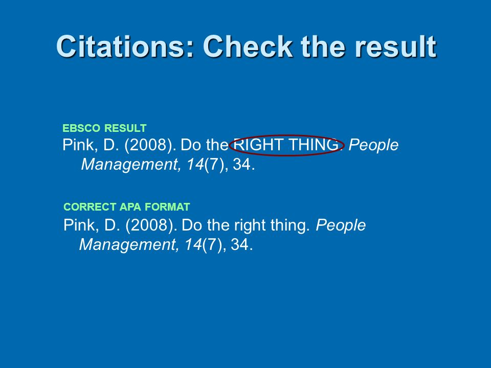 Citations: Check the result