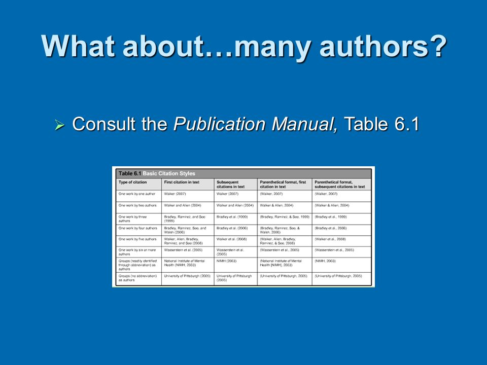 What about…many authors