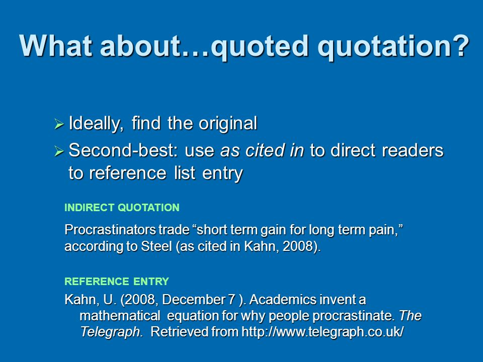 What about…quoted quotation