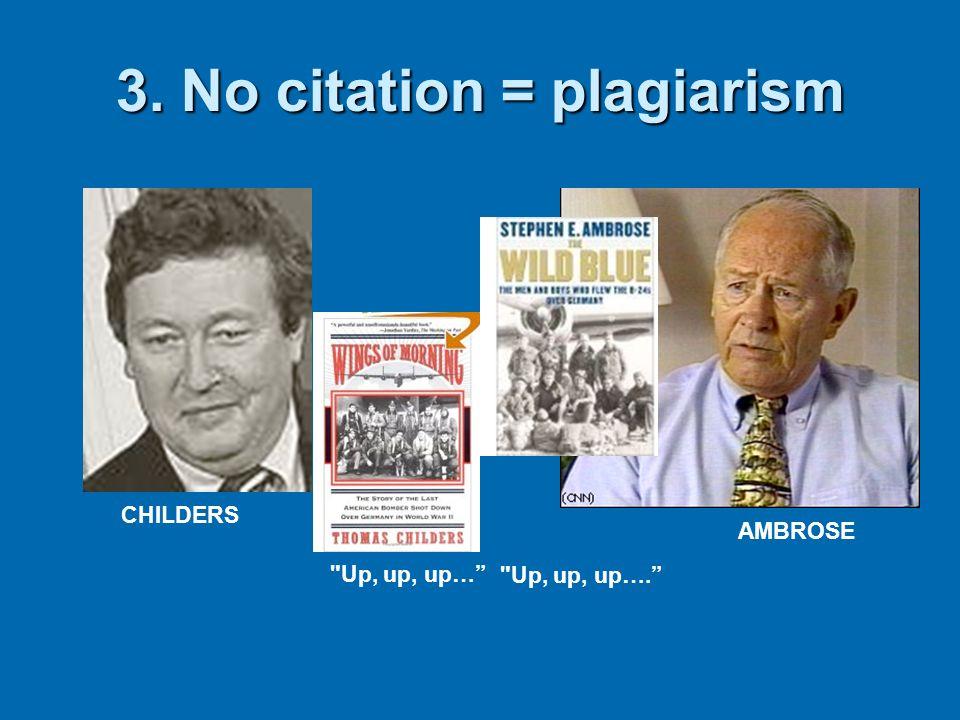 3. No citation = plagiarism
