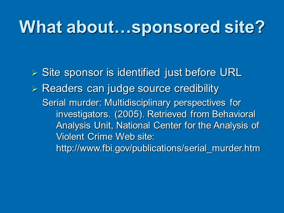 What about…sponsored site
