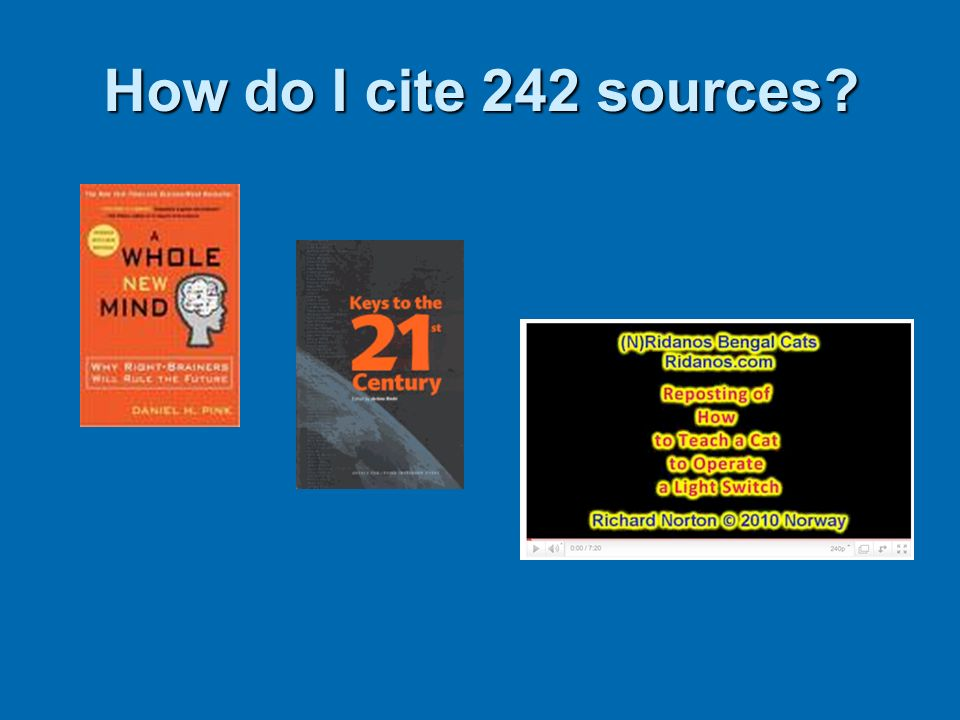 How do I cite 242 sources If edition: Title (2nd ed.).