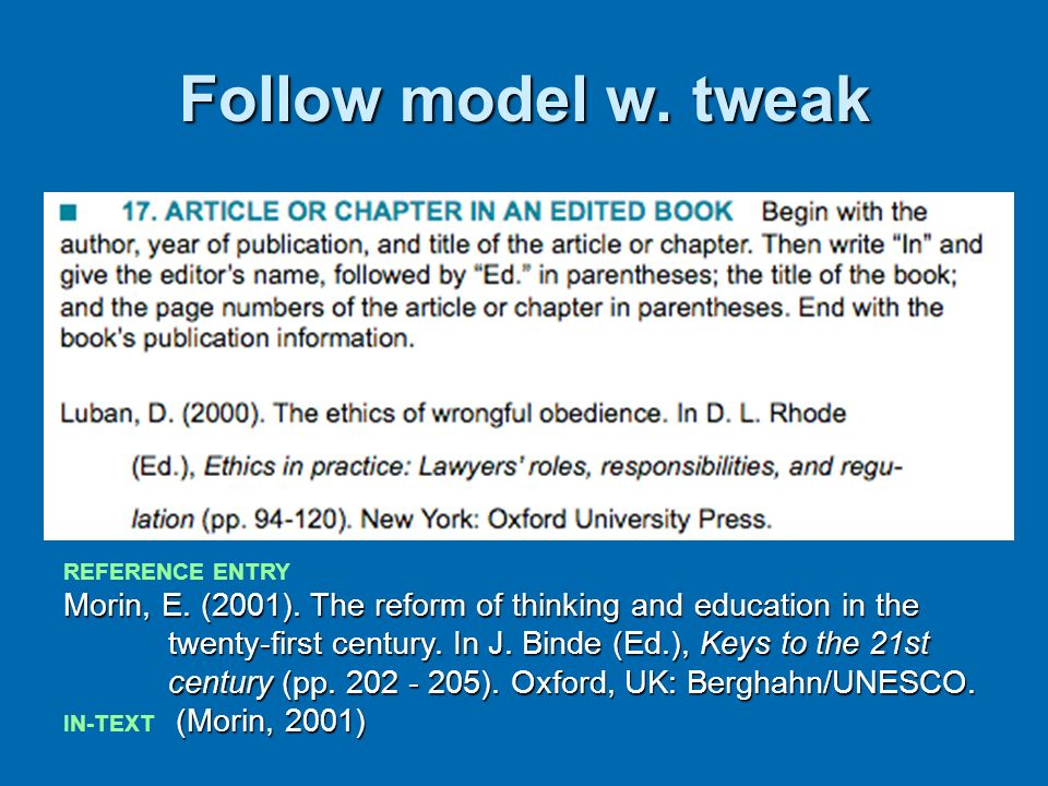 Follow model w. tweak Ask them to copy: proof style points--punctuation. Italics. Indent.