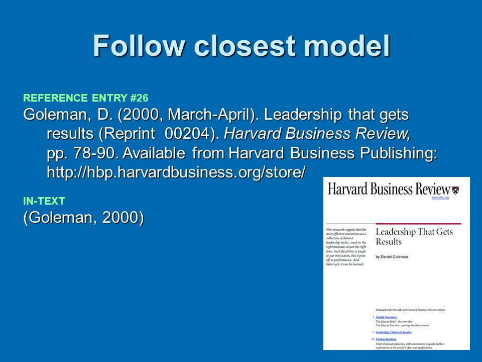 Follow closest model REFERENCE ENTRY #26.