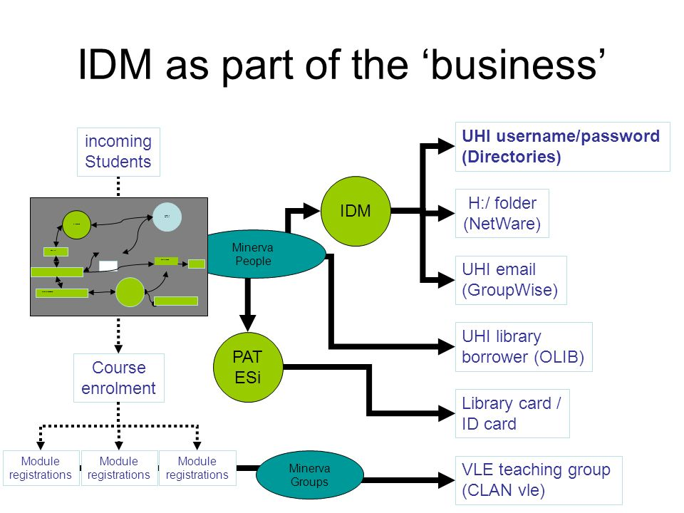 IDM as part of the 'business'