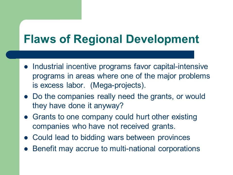 Flaws of Regional Development