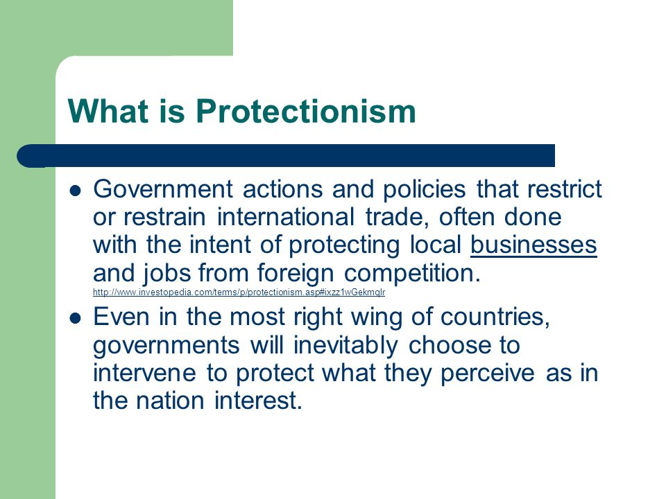 What is Protectionism