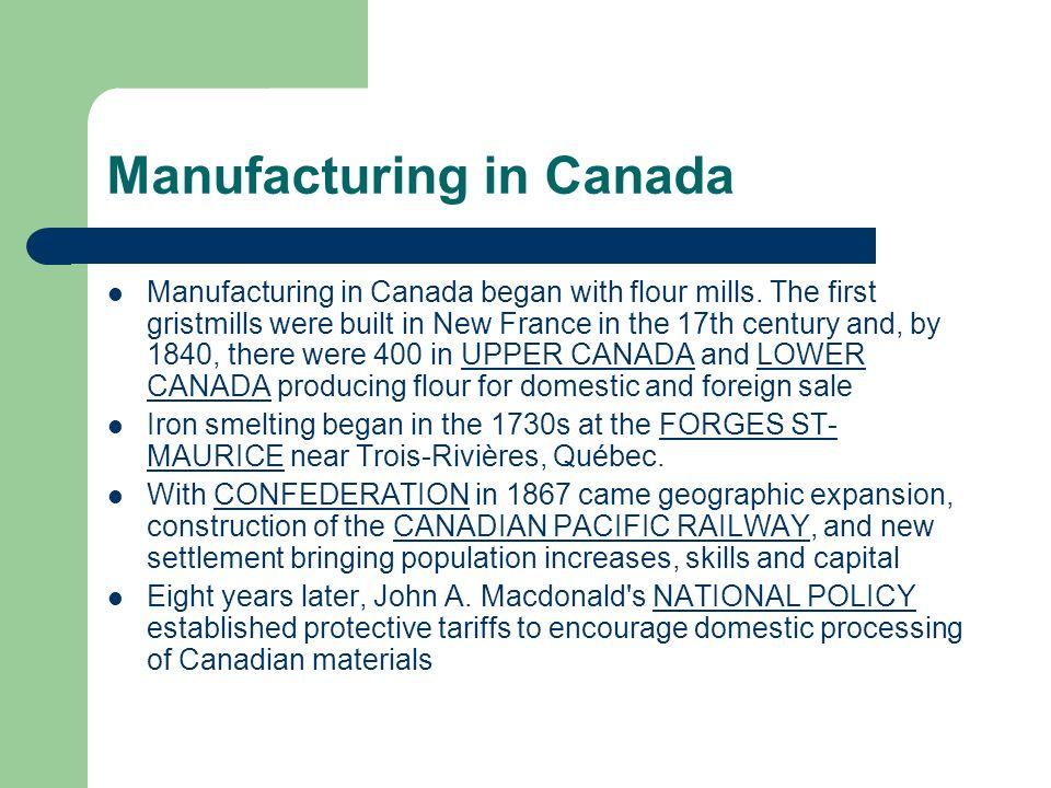 Manufacturing in Canada