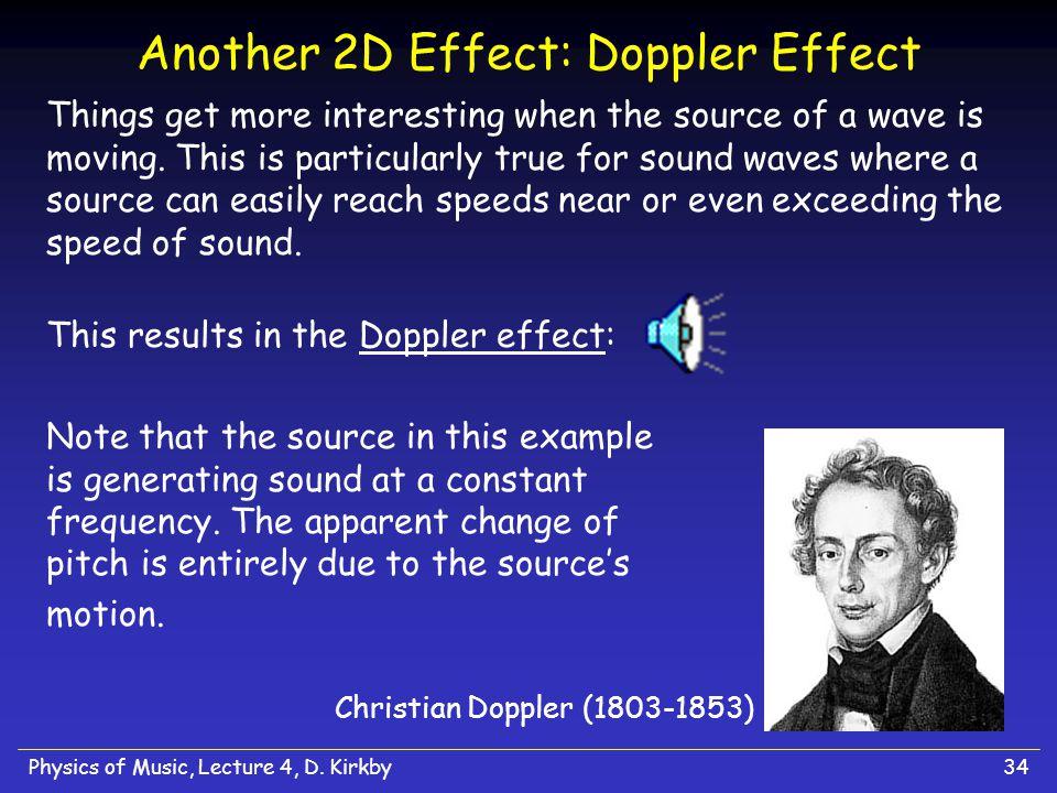 Another 2D Effect: Doppler Effect
