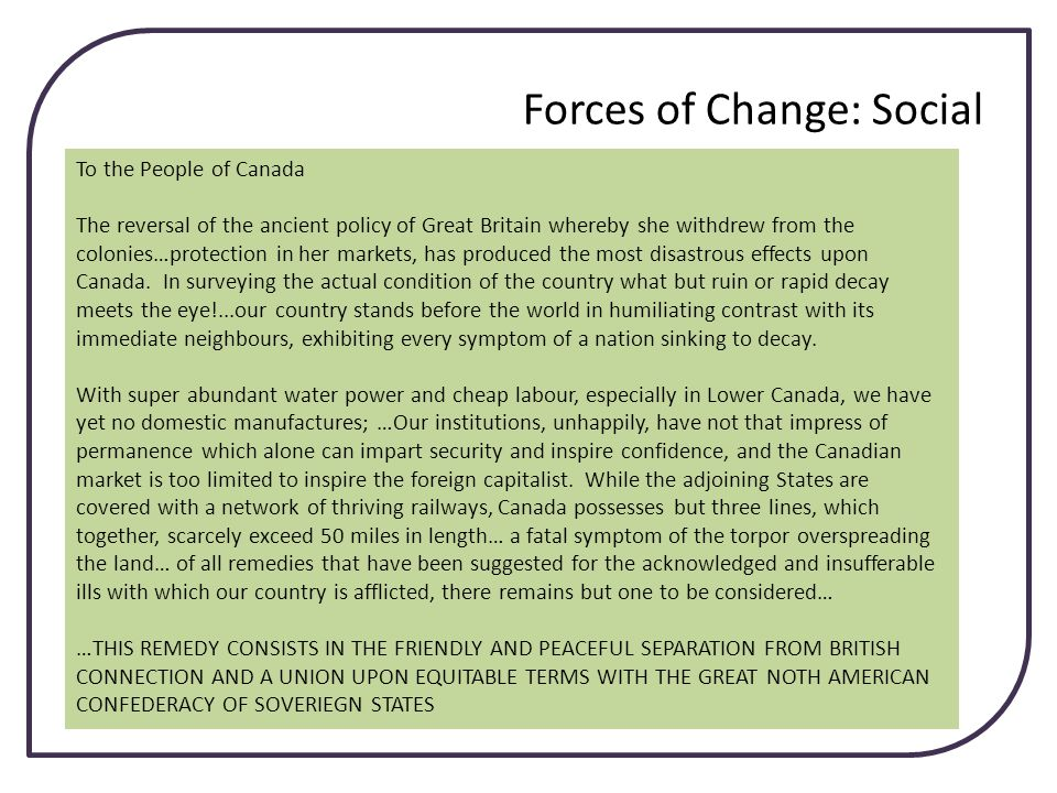 Forces of Change: Social