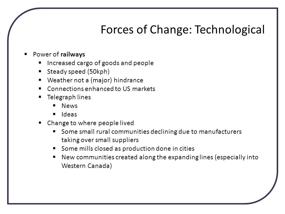 Forces of Change: Technological