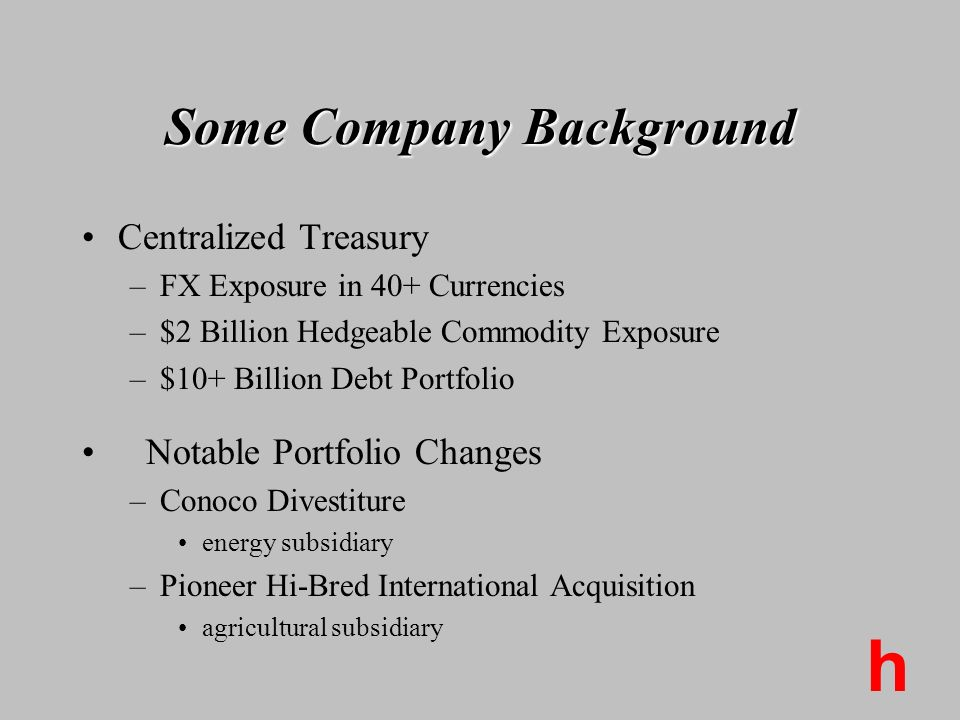 Some Company Background