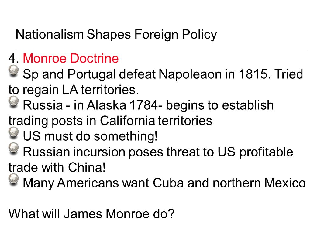 Nationalism Shapes Foreign Policy