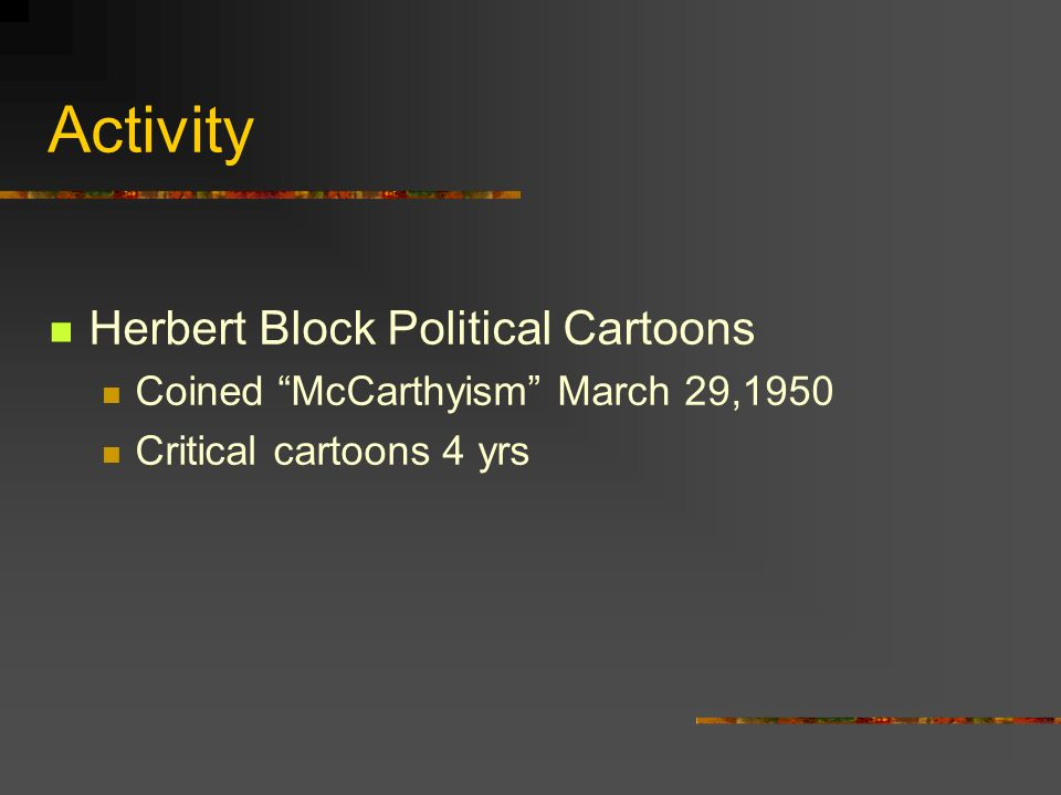 Activity Herbert Block Political Cartoons