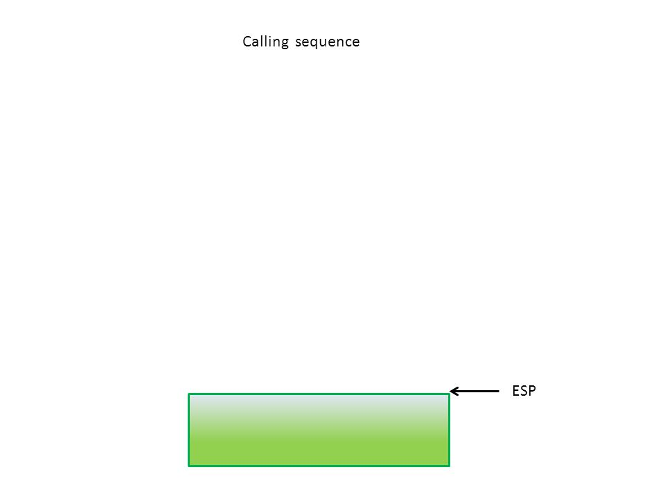 Calling sequence ESP