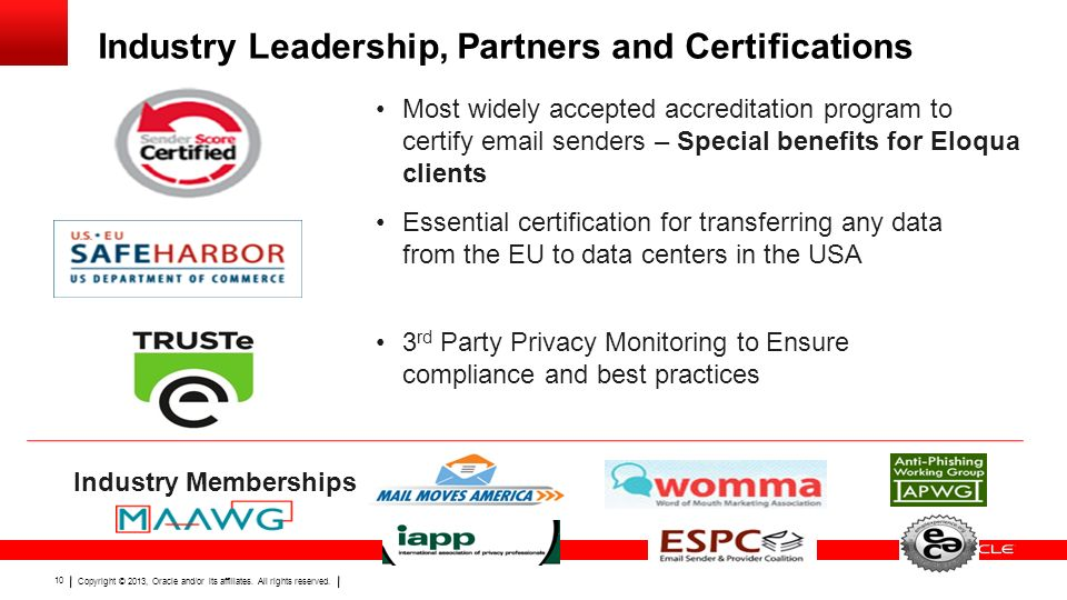 Industry Leadership, Partners and Certifications