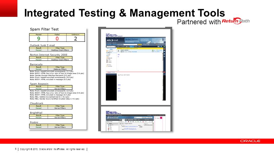 Integrated Testing & Management Tools