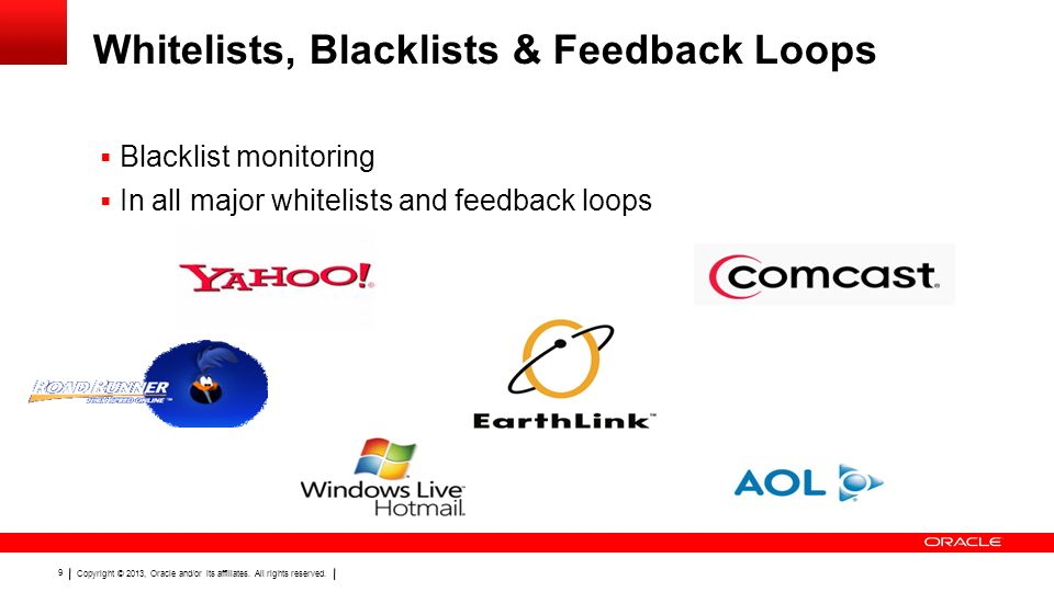 Whitelists, Blacklists & Feedback Loops