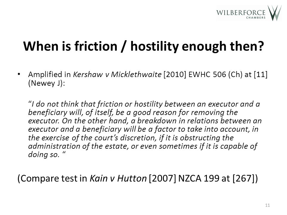 When is friction / hostility enough then