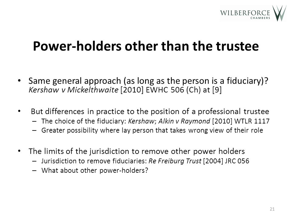 Who has the power to remove the trustee