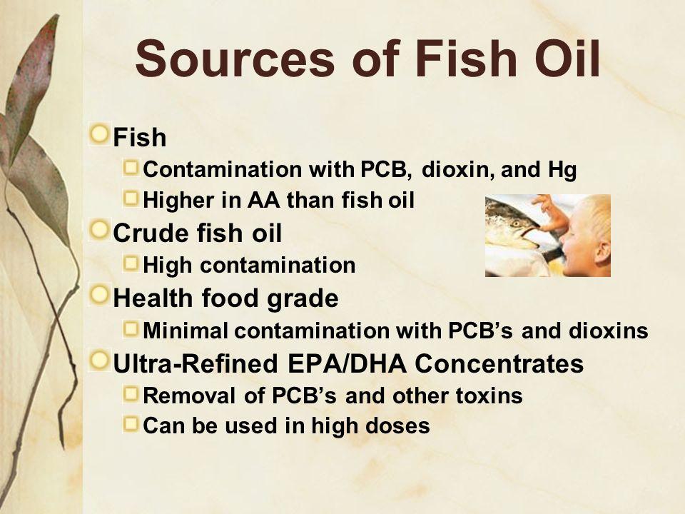 Sources of Fish Oil Fish Crude fish oil Health food grade