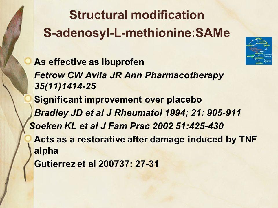 Structural modification S-adenosyl-L-methionine:SAMe