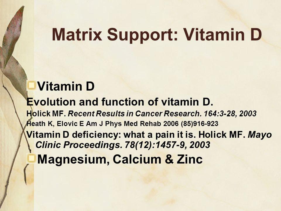 Matrix Support: Vitamin D