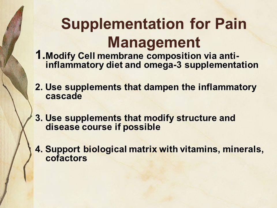 Supplementation for Pain Management