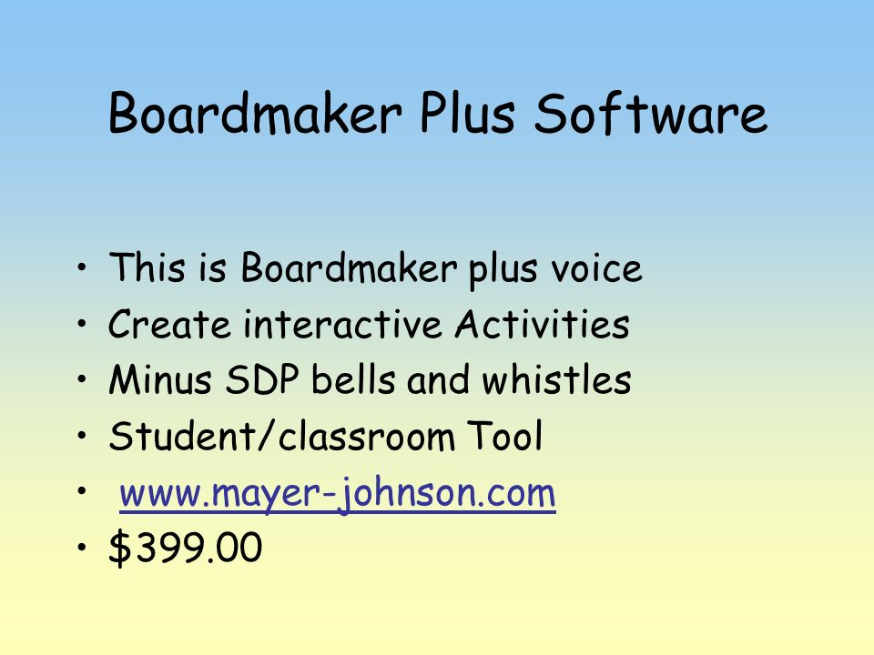 Boardmaker Plus Software
