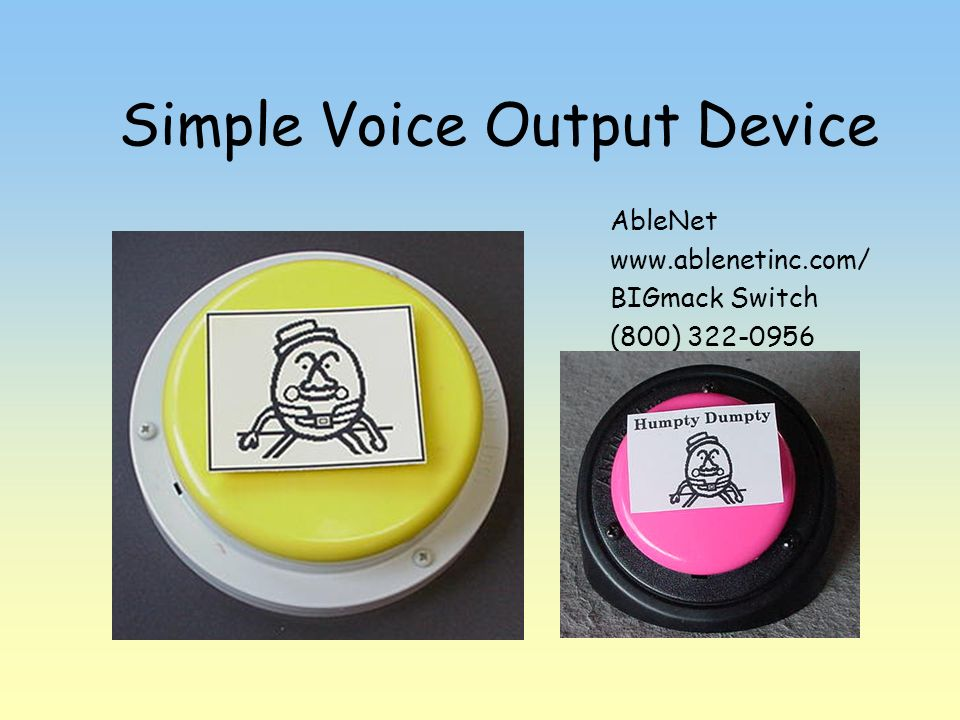 Simple Voice Output Device