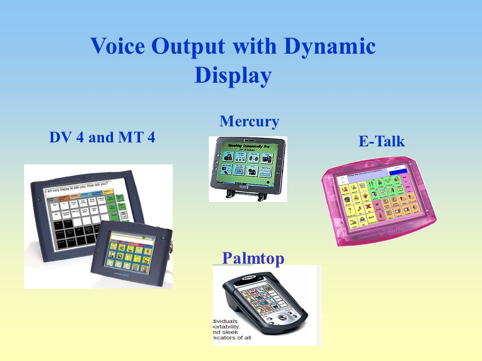 Voice Output with Dynamic Display