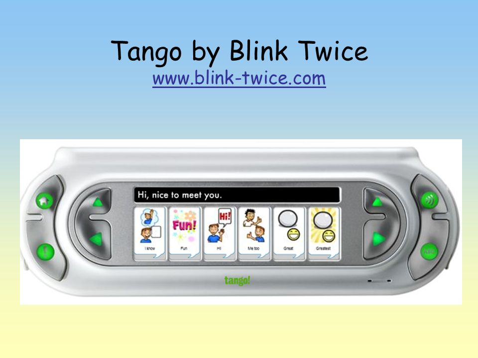 Tango by Blink Twice www.blink-twice.com