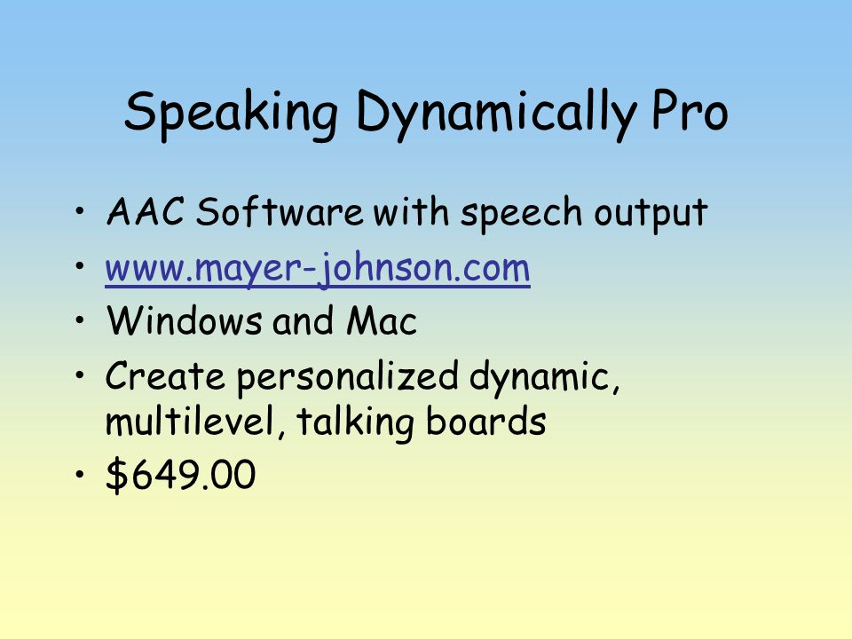 Speaking Dynamically Pro