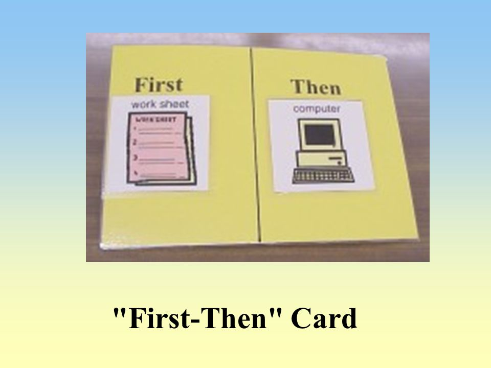 First-Then Card
