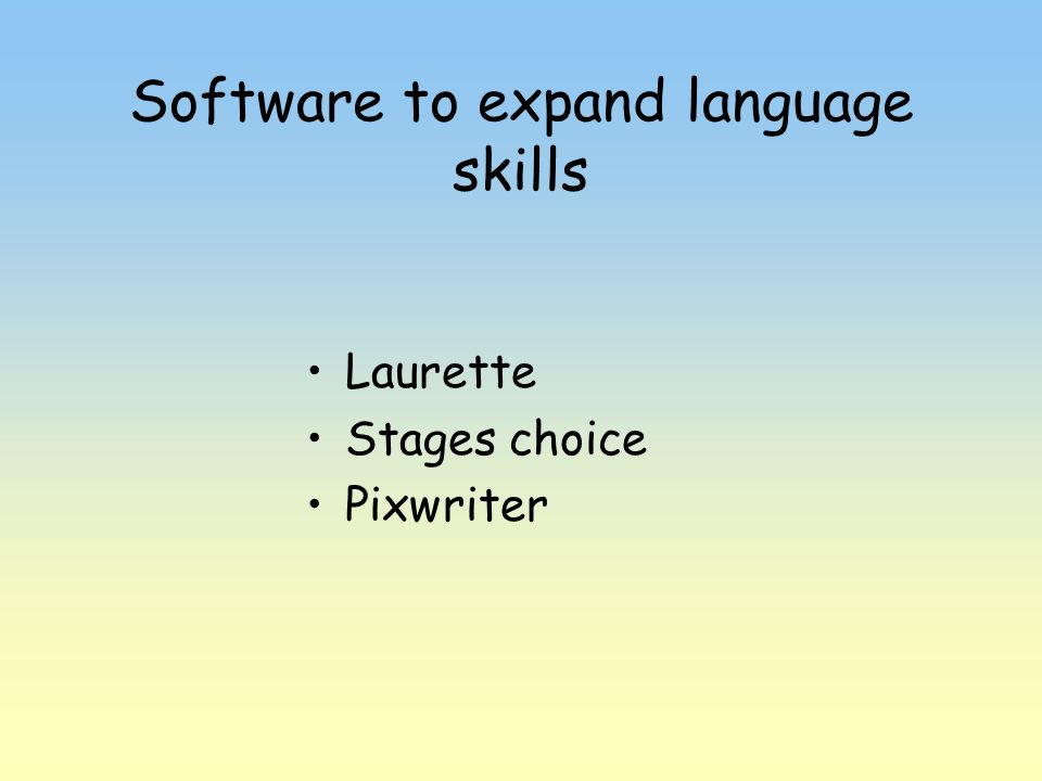 Software to expand language skills