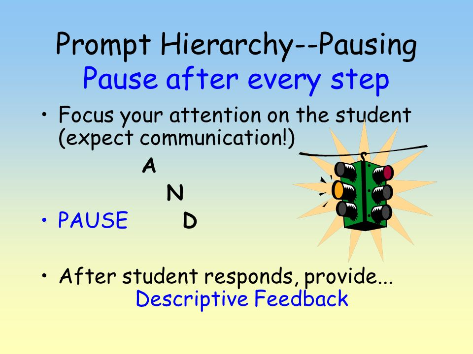 Prompt Hierarchy--Pausing Pause after every step