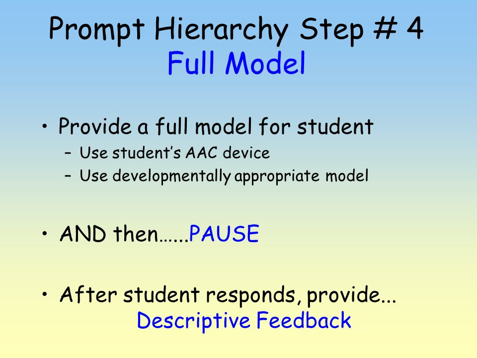 Prompt Hierarchy Step # 4 Full Model